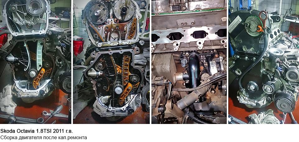 ремонт двигателя Skoda